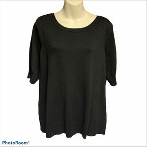 BNWT Christopher & Banks black sweater size large